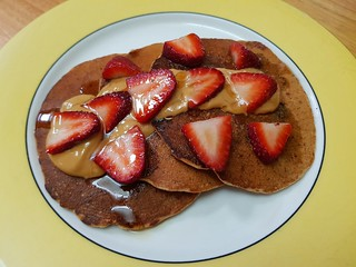 Hearty Pancakes with  Buckwheat and Blueberries