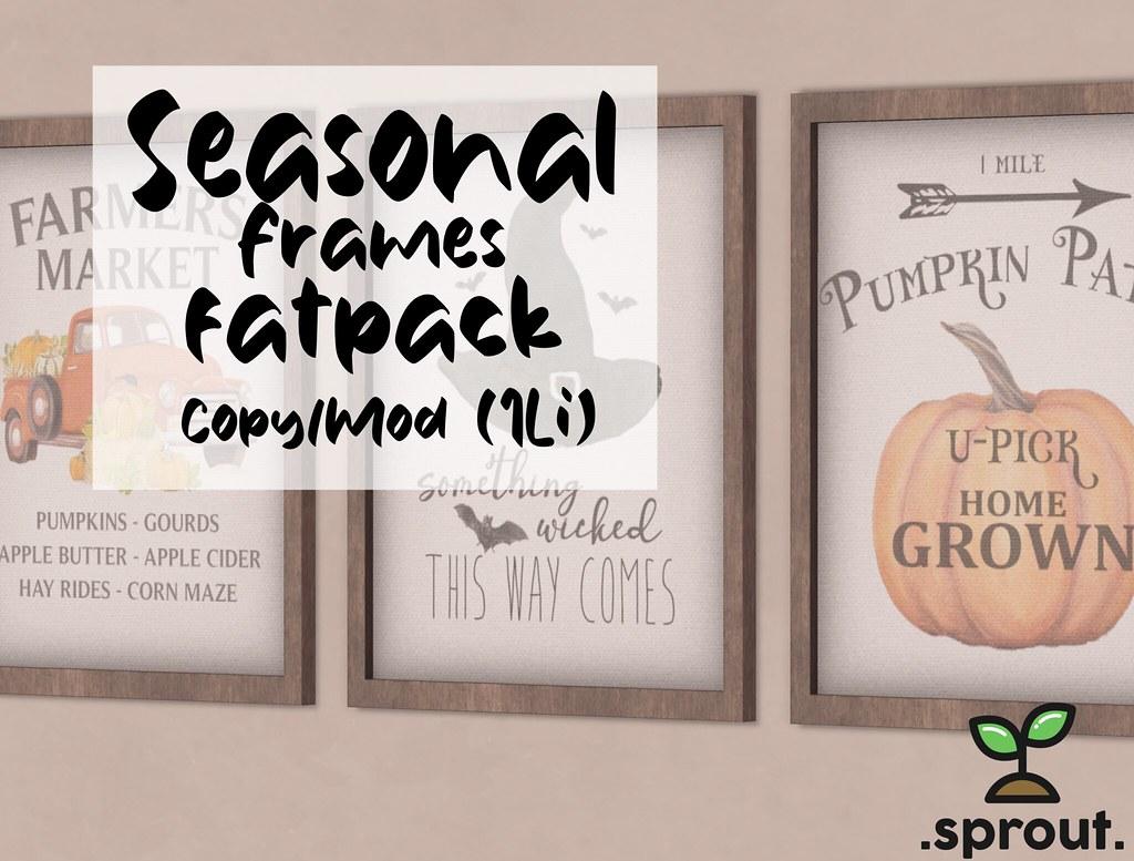 .sprout. seasonal frames