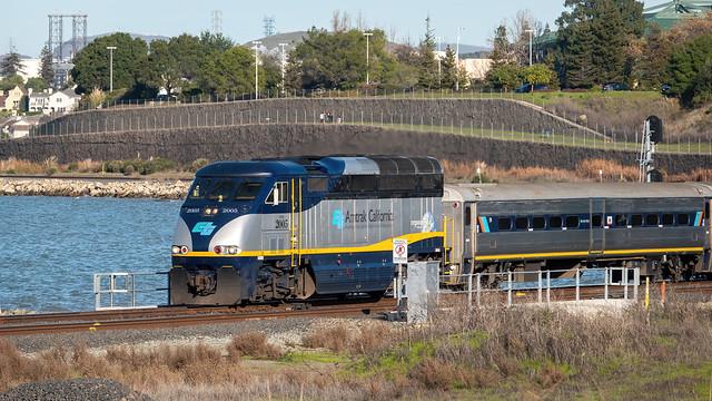 Amtrak at Refugio Creek