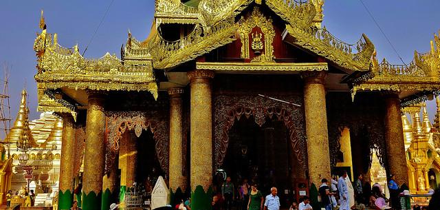 Myanmar/ Burma, Yangon, die prächtigste Pagode - der Shwedagon, religiöses Zentrum des Landes , 78025/13029