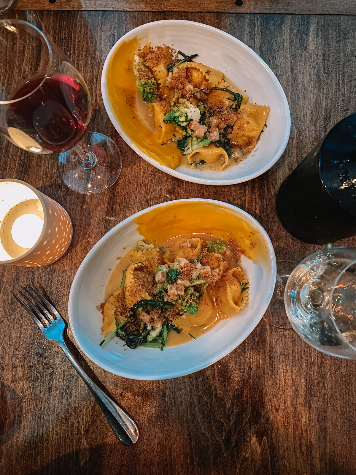 Hen of the Wood Restaurant Agnolotti Dinner | Waterbury Vermont | My Complete Vermont Fall Travel Guide: What to See, Do & Eat | Ultimate Fall Guide to Vermont | 5 Day Vermont Road Trip | Fall Foliage Road Trip Guide