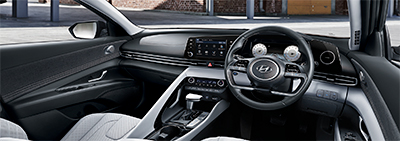 Dashboard of the 2021 Hyundai Avante 1.6.