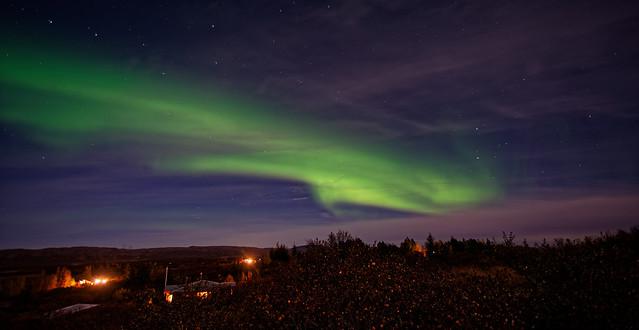 Mild northern lights