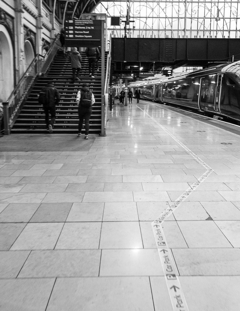 Paddington. Platform 1. 0840 on a Friday rush hour.