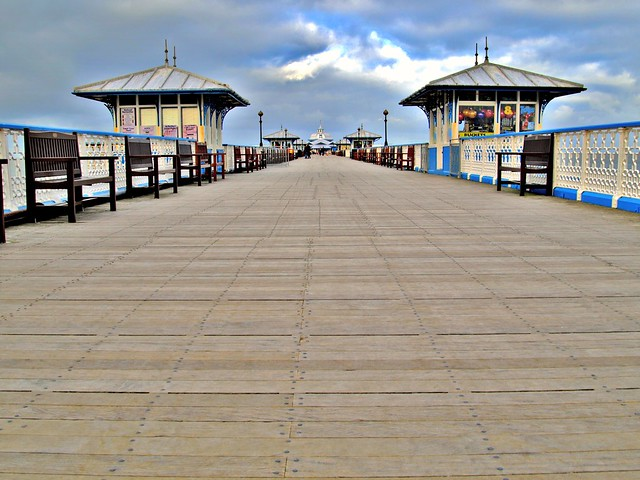 Down the pier at Llandudno in Wales