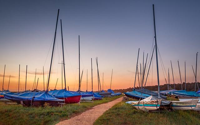 Blakeney boats at dawn