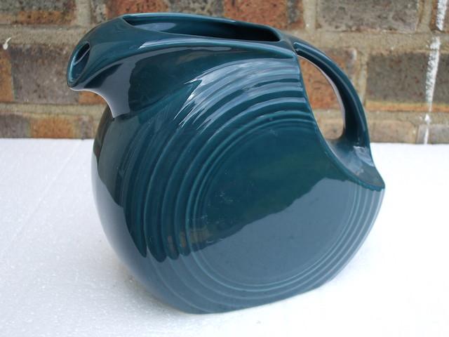 Fiesta Ware USA Disc Pitcher In Teal Blue UK Car Boot Sale FInd
