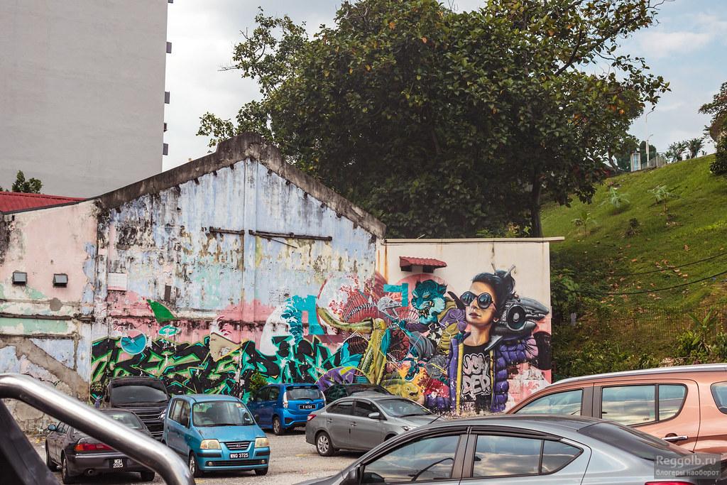 Малайзия Куала-Лумпур граффити