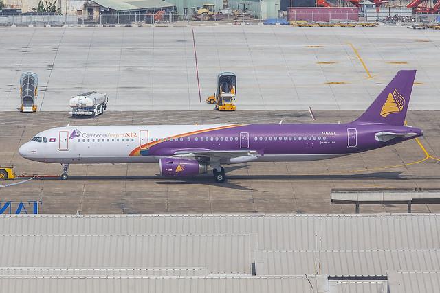 XU-350, Airbus A321-231 Cambodia Angkor Air @ Ho Chi Minh City SGN VVTS