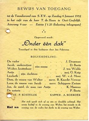 Stv - 1952-01-06 - Affiche Onder een Dak - 001