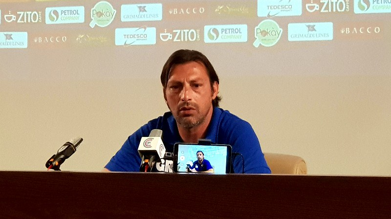 Mister Raffaele oggi in sala stampa a Torre del Grifo