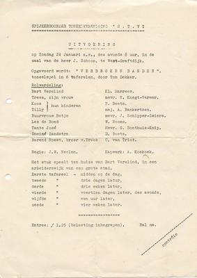 Stv - 1954-01-24 - Affiche Verbroken Banden - 001