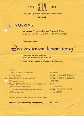 Stv - 1955-12-11 - Affiche - Een Stuurman komt terug -  001