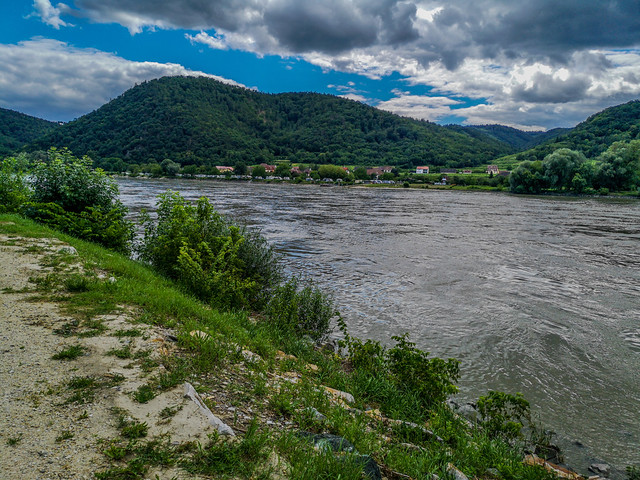 A scenic view along the Danube River.