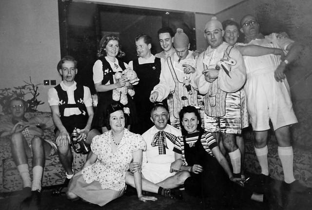Baby theme fancy dress party, Shanghai, 1940