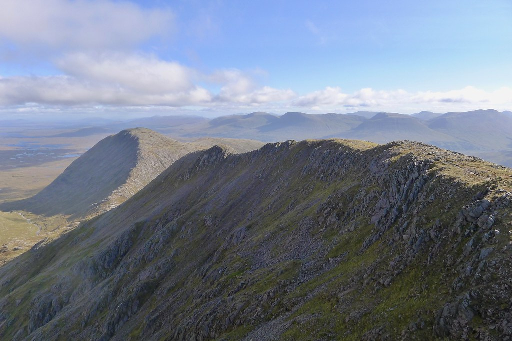 Looking along the Aonach Eagach