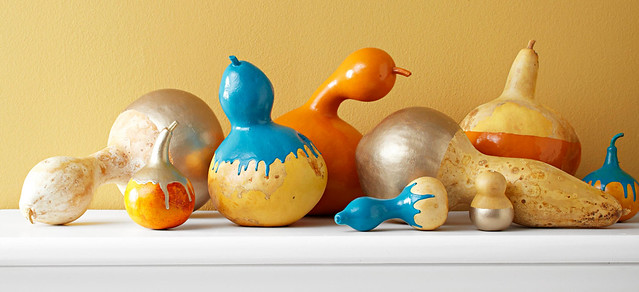 Paint-Dipped Gourds