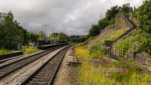 Platform 2 from Platform 1, Slaithwaite Railway Station