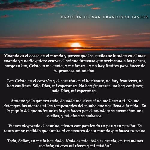 Oración de San Francisco Javier