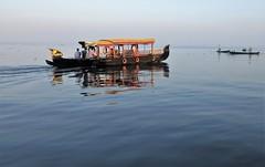 Kerala - Morning Houseboat & Fisherman Lake Vembanad