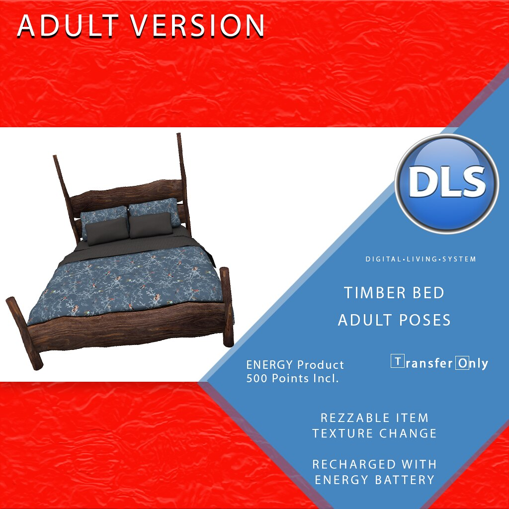 DLS Timber Bed Adult & PG Versions