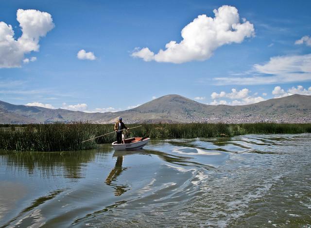 Lake Titicaca, boatman