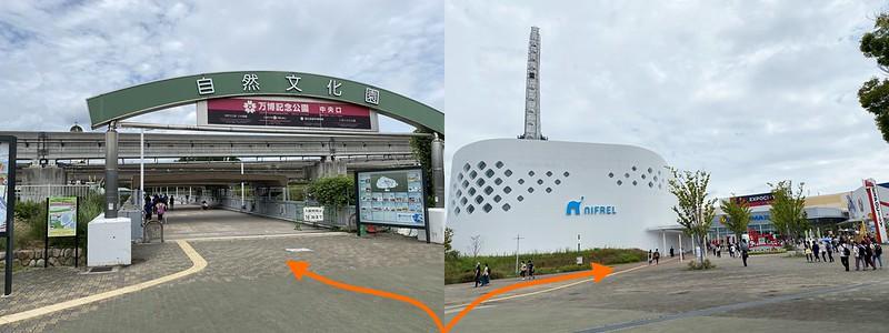 万博記念公園駅から公園へ_01