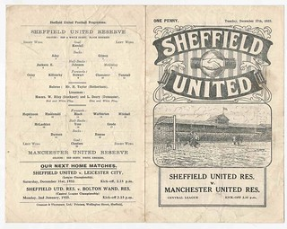 Sheffield United Reserves v Manchester United Reserves Central League Season 1932-33