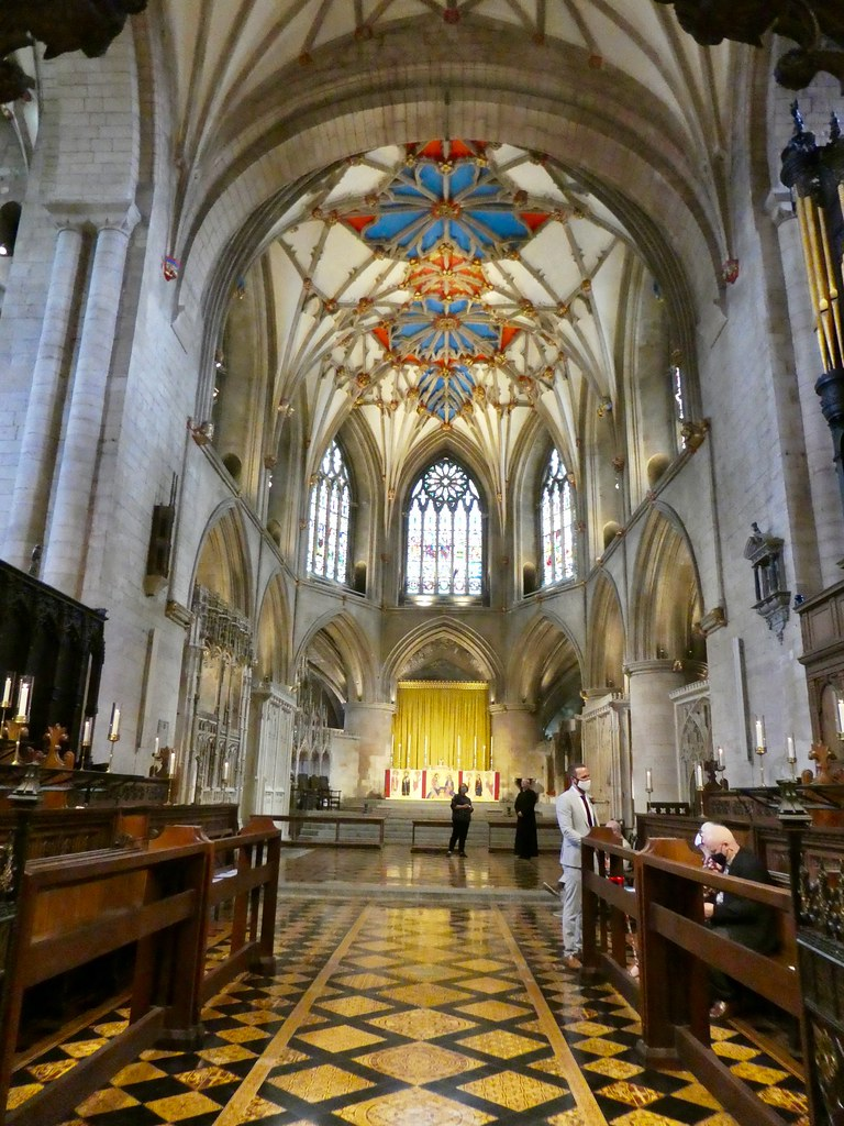 The choir stalls and high altar, Tewkesbury Abbey