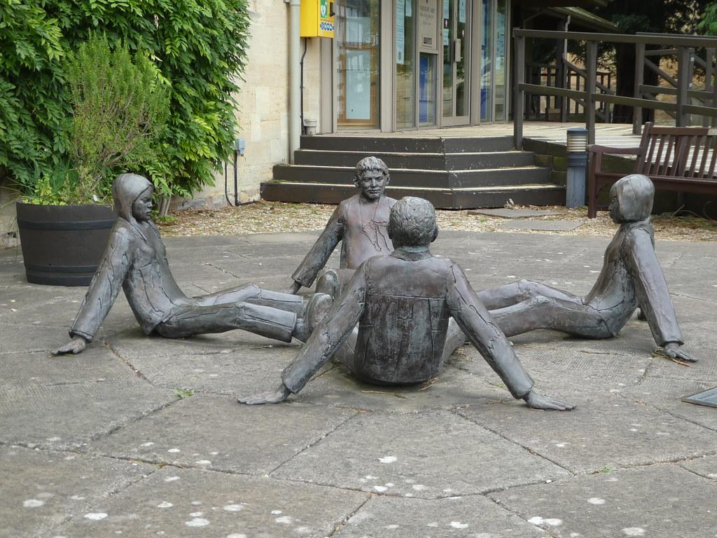 Touching Souls sculpture, Tewkesbury Abbey