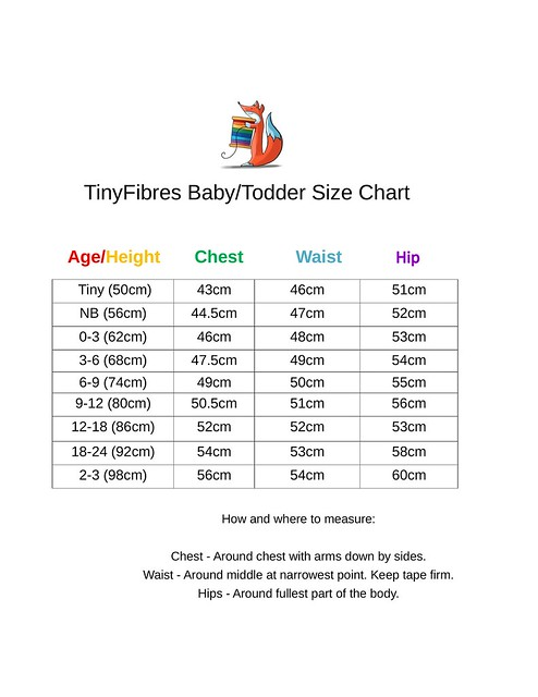 TinyFibres Baby size chart-1