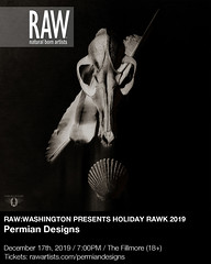 """Permian Designs Debut Showcase at """"RAW Artists DC"""" [In Partnership with The Fillmore, Silver Spring] - Promo Flyer"""