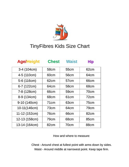 TinyFibres Kids Size Chart-1