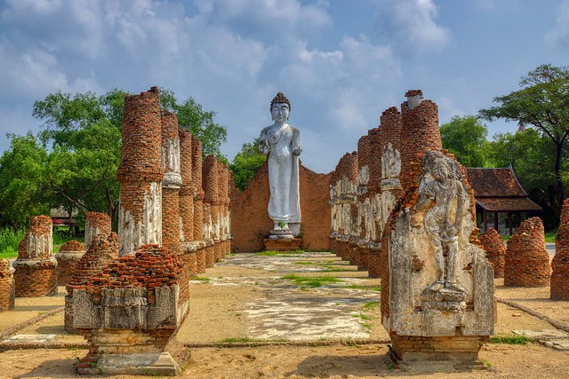 Buddha statue in Muang Boran (Ancient City) open air museum in Samut Phrakan near Bangkok, Thailand