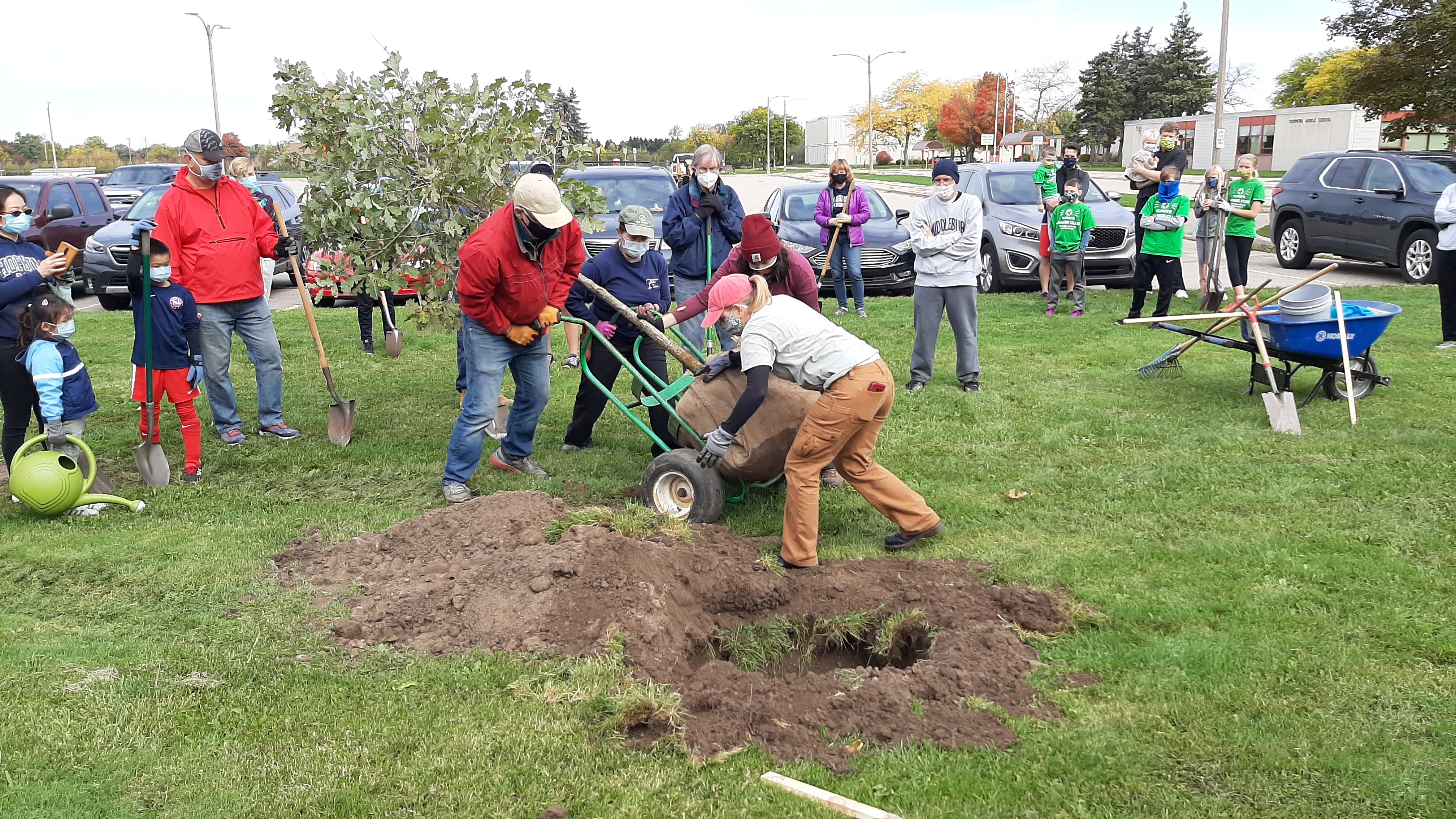 Community Tree Planting Day in Meridian Township a Success