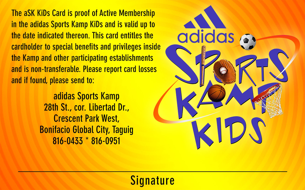 2004-09-15 - Adidas Spors Kamp Kids Card - Back