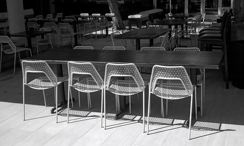 Chairs on Palm Canyon Drive