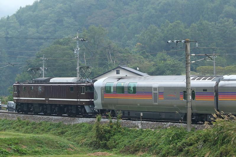 EF64-1052信州カシオペア紀行@篠ノ井線