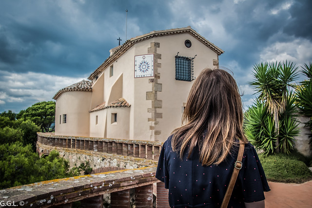 Ermita de Sant Elm. Sant Feliu de Guíxols. Litoral de La Costa Brava.