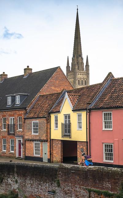 Riverside walk Norwich, UK