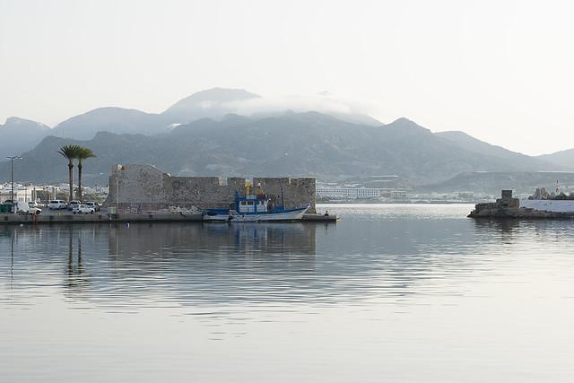 Castle at the harbor.Ierapetra.