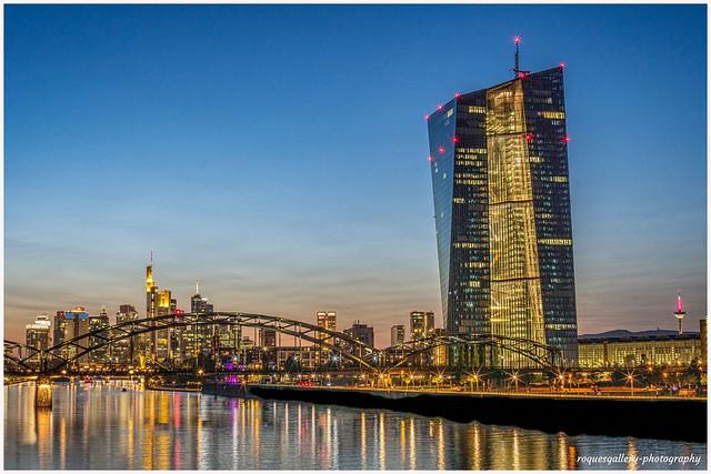EZB And The Frankfurt Skyline