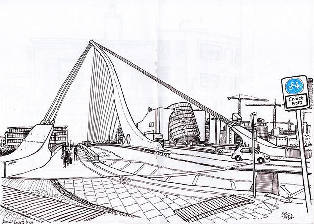 Dublin Beckett Bridge sm