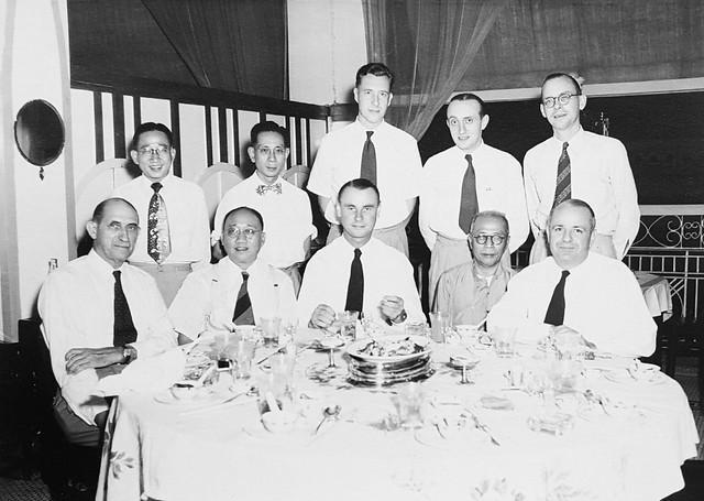 Farewell dinner Klimanek, Hong Kong, 1950