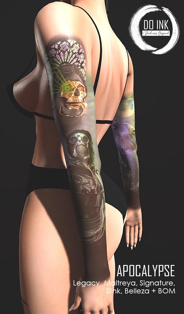 NEW DO INK TATTOO APOCALYPSE ARMS