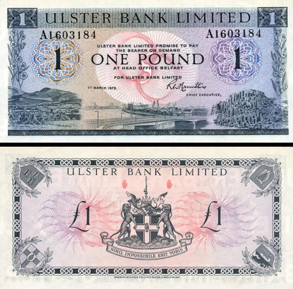 1 Libra Severné Írsko 1796, P325b