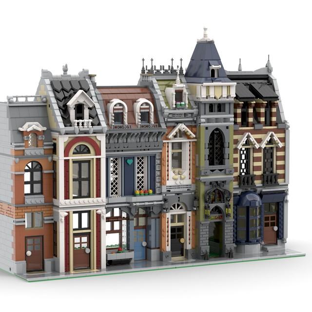 Lego MOC Modular • Old Town Street
