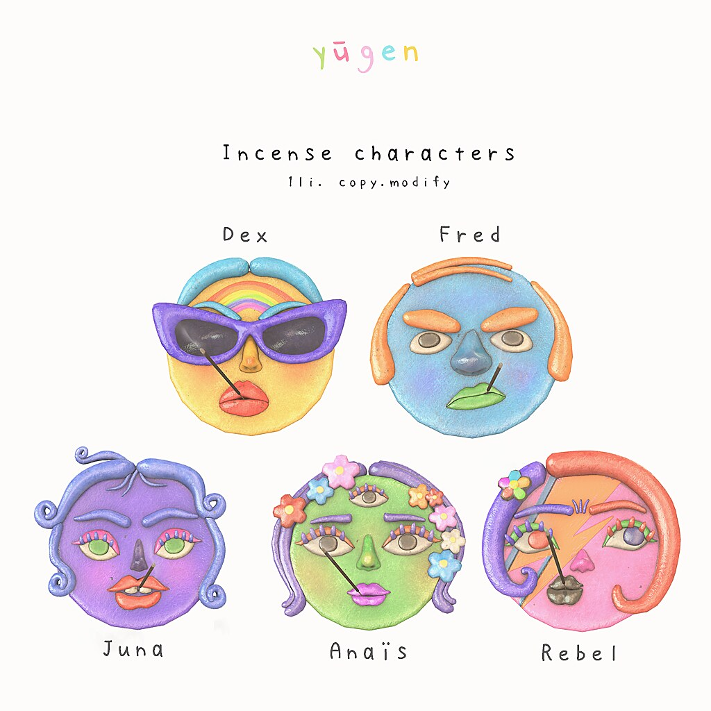 Yūgen.// incense characters - Anthem