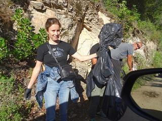Nettoyage sur la piste du Cavu