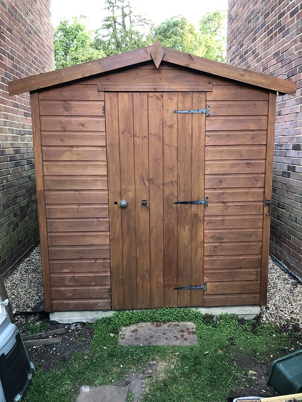 Shed painted